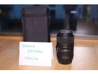 SIGMA 105mm f/2.8 EX DG MACRO OS Canon fit - excellent condition