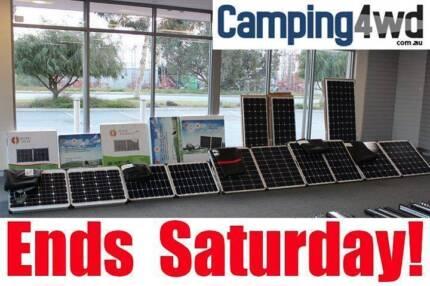 12v Mono Solar Panel Folding Camping Power Kit Caravan Boat 4wd