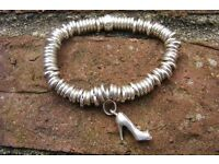 Links of London Sterling Silver Sweetie Bracelet with charm. (Larne)