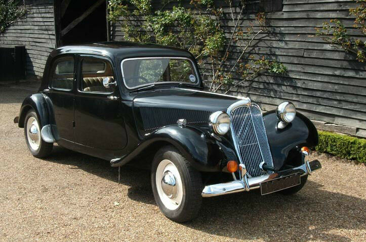 French A Traction Wedding Car Hire Classic 1950s Citroen