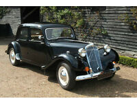 French-a-traction wedding car hire classic 1950s Citroen Traction Avant Guildford Surrey