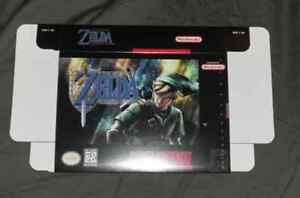 SUPER Nintendo SNES THE LEGEND OF ZELDA GODDESS OF WISDOM box only