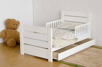 Luxe Peuterbed Charlie & lola 70x150 Wit Kinderbed + Lade