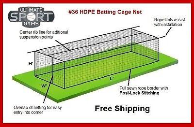 12' x 14' x 70' #36 (54 ply) Baseball Softball Batting Cage Net w/Door 36 Batting Cage Net