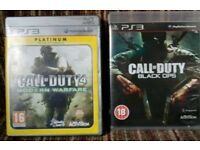 2xCall of duty games(playstation 3)