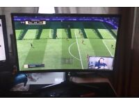 """SAMSUNG C24F396 Full HD 24"""" Curved LED Monitor 3 weeks old. Great condition. comes with box."""
