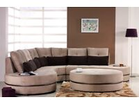 brown corner sofa with pillows
