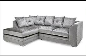 🍀Sofa Crushed Velvet Sofa 3+2 or corner suite BRAND NEW