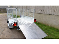 New Paxton 7' x 4' Caged & Ramped Trailer