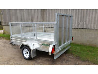 New Paxton 8' x 5' Caged & Ramped Trailer