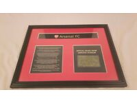 Framed Genuine Grass Clipping from The Emirates- Licenced product of Arsenal FC