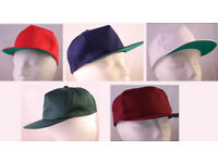"5 New Quality Baseball Caps, Blue, Green, Maroon, Red, White - 22""(54cm)"