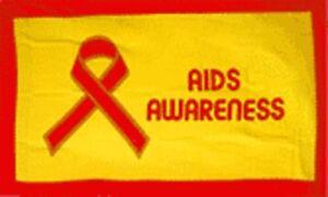 Aids Awareness flag Oakville / Halton Region Toronto (GTA) image 1
