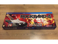 PS4 Rock Band 4 Guitar and Game - Brand New