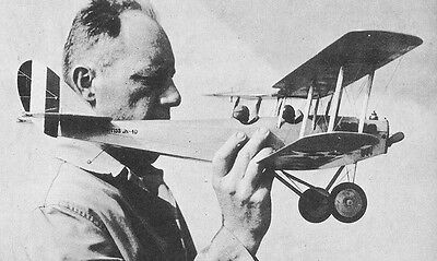 Model Airplane Plans  Ff   Curtiss Jn 4D  Jenny   A 34  Wingspan
