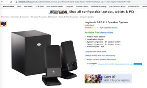 Logitech 2.1 Speakers R-20