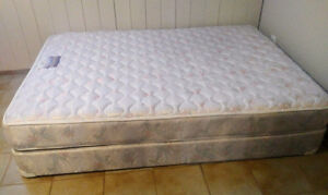 EXCELLENT CONDITION QUEEN MATTRESS AND BOX-SPRING
