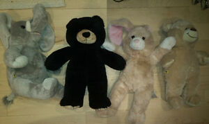 12 Built-A-Bear pets (bears, dogs, elephant, bunny) $ 5 ea
