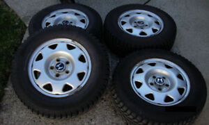 205 70 15 Winter Tires mounted and blanced on Honda OEM Rims