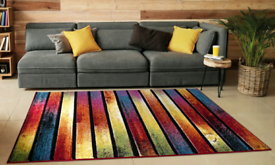 Brand New Carved Rug- Stripes 200x290 cm