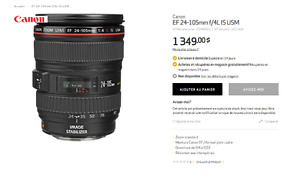 objectif Canon 24-105mm