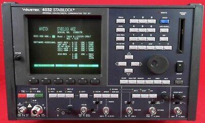 Wavetek 4032 Schlumberger Stabilock Communication Service Monitor 1588178