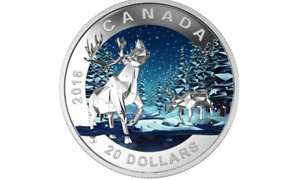 RCM   2016  Geometry in Art Series - The Caribou  $20.00 Coin