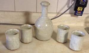 VINTAGE SET DE DECANTER ET QUATRE VERRES.CERAMIC JAR WITH CUPS Gatineau Ottawa / Gatineau Area image 4