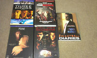 DVDs Three kings, Four Brothers, The Corruptor, Fear