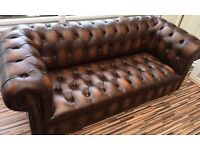 Chesterfield Sofa, Chair and Stool-OFFER ACCEPTED