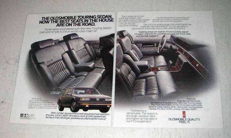 1988 2-page Oldsmobile Limited Edition Touring Sedan Ad