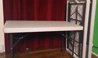 3 tables pliantes