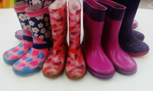 (62) Rain Boots for girls from $6