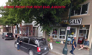 Store front for rent $540.00 a month everything included