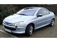 Peugeot 206 cc year 2003 convertible silver