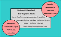 Kenilworth Playschool's Fall I've Outgrown It Sale -Sept 30