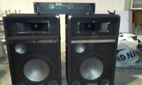 speakers and amplifier