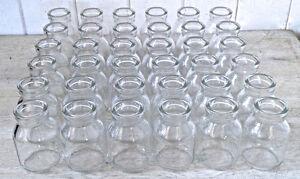 RÉSERVÉ MCC Lot de 36 petits pots ou bouteilles de verre
