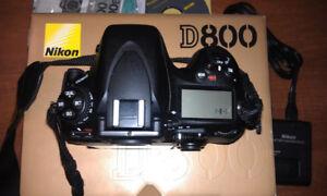 Nikon D800 Camera Body barely used