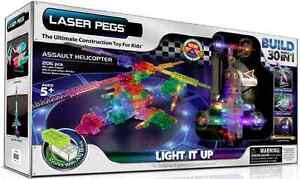 LASER PEGS C1200 Assault Helicopter - BRAND NEW OPEN BOX 5YRS+