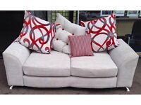 ***NEW DFS EX DISPLAY 2 seater grey fabric sofa for SALE ***