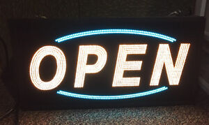 Open Sign - Electric Lights Up