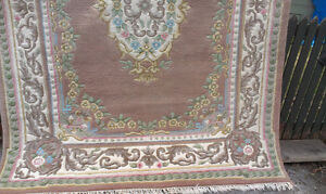 Wool Peach colours Area Carpet