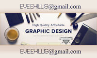 Graphic designer for hire! (anything you want!)