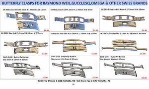 Buckles for Raymond Weil,Gucci, Omega, ESQ & other Swiss Brands