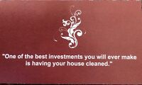 HOUSE CLEANING SERVICES-openings available!