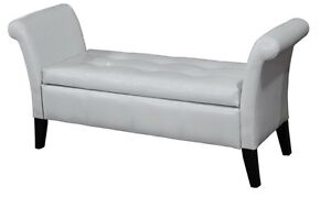 Multi purpose bench with arms and storage, white or dark brown
