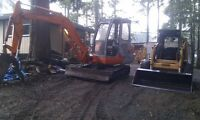 2001 ZX-40 Mini Excavator and 1999-1845C Skid Steer loader