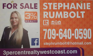 3% REALTY. Premium Realty Services with Savings!
