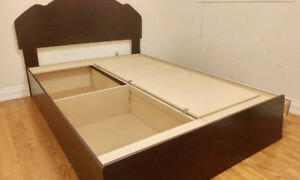 Brand new never used queen size bed with storage